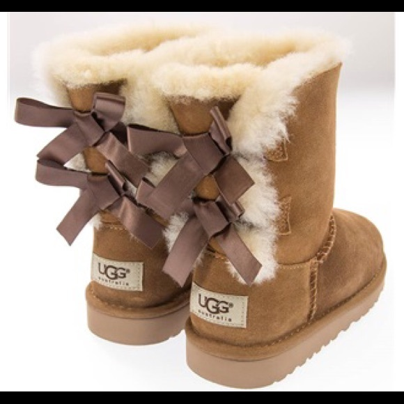 5cc6e0b6ca7 Sale!!!! UGG Brown Bailey Bow Boots